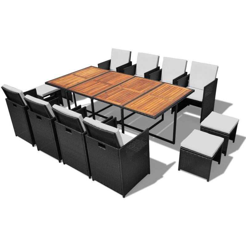 Chaises pour salles manger vidaxl achat vente de for Ensemble salle a manger rotin