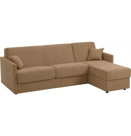canape d 39 angle rapido convertible ciak microfibre cappuccino. Black Bedroom Furniture Sets. Home Design Ideas