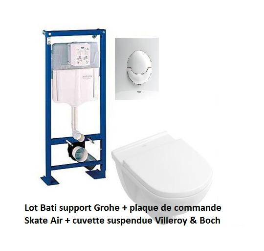 b ti supports wc grohe achat vente de b ti supports wc grohe comparez les prix sur. Black Bedroom Furniture Sets. Home Design Ideas