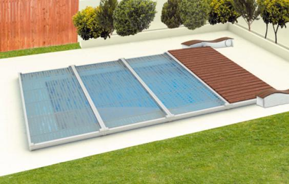 39 abri de piscine plat for Couverture pour piscine