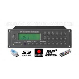 ENREGISTREUR MP3 COMPACT - USB - DPR-10 MONACOR