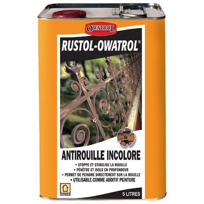 ANTIROUILLE INCOLORE 5 LITRES RUSTOL OWATROL DIRECT ROUILLE