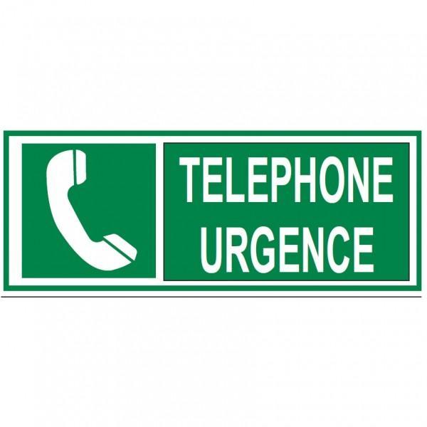 AUTOCOLLANT TÉLÉPHONE URGENCE