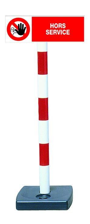 Kit poteau PVC avec panneau - Hors service - 2001441