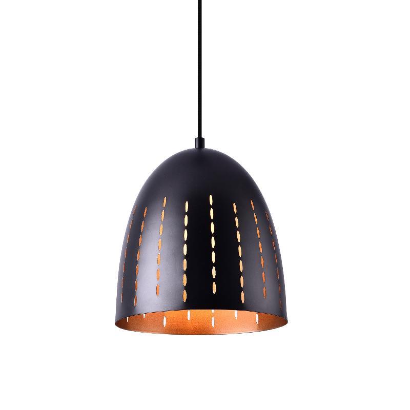 Lampe à suspension 155 cm noir cuivré métal 03_0002476