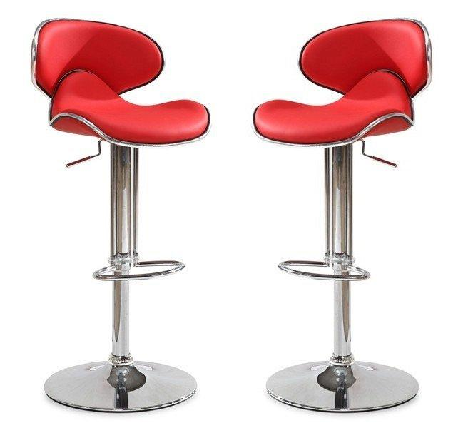 lot de 2 tabourets chaises de bar bubble rouge. Black Bedroom Furniture Sets. Home Design Ideas