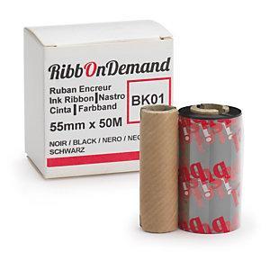 RUBAN ENCREUR NOIR 50 MM X 5 M POUR IMPRIMANTE RIBBONDEMAND
