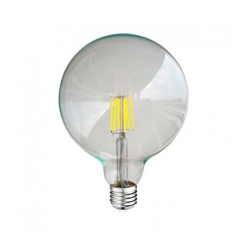 ampoule led fil cob globe g125 e27 8w 6000 k claire. Black Bedroom Furniture Sets. Home Design Ideas