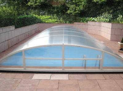 Abris piscine abris sur rail for Abri piscine telescopique sans rail