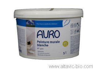 PEINTURE NATURELLE MURALE BLANCHE AURO 320