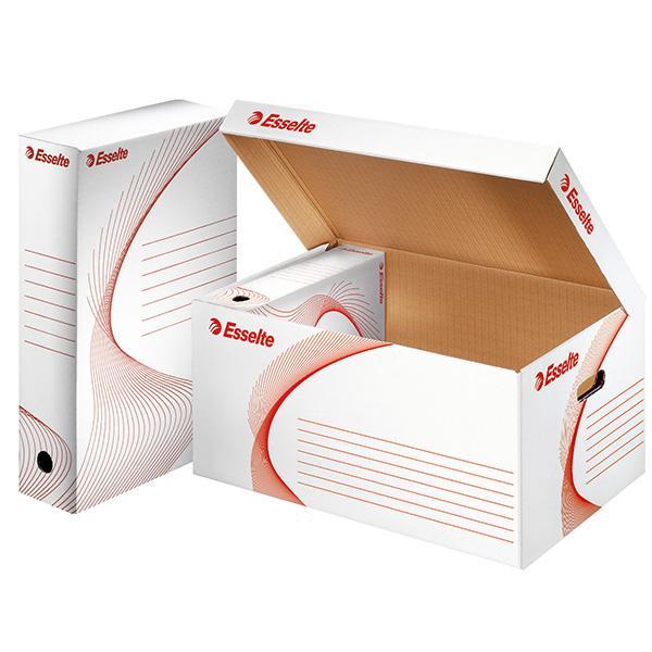 conteneur carton pour boite archive container archive blc av couvercle lot10 comparer les prix. Black Bedroom Furniture Sets. Home Design Ideas