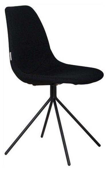Chaise zuiver fourteen noire pietement chrome for Chaise zuiver