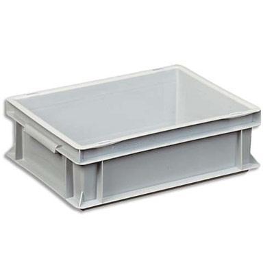 boite de rangement 10 litres euronorm en polypropyl ne gris l 30 x h 12 x p 40 cm comparer les. Black Bedroom Furniture Sets. Home Design Ideas