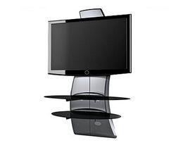 Meuble tv ghost design 2000 silver pour televiseur ecran for Table pour tv ecran plat