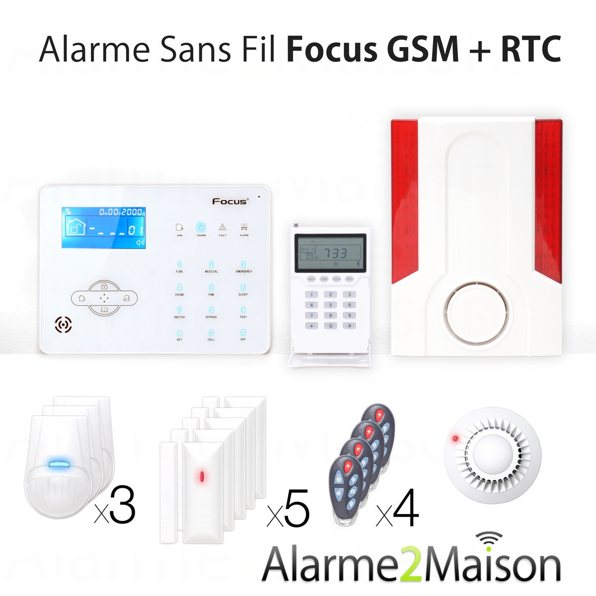 Prix alarme maison for Alarme securitas sans abonnement
