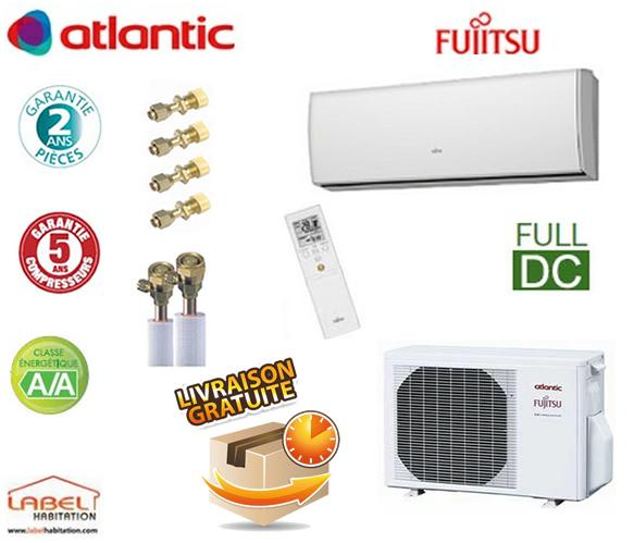 climatisation atlantic fujitsu 3 5kw asyg 12 lt kit frigorifique comparer les prix de. Black Bedroom Furniture Sets. Home Design Ideas