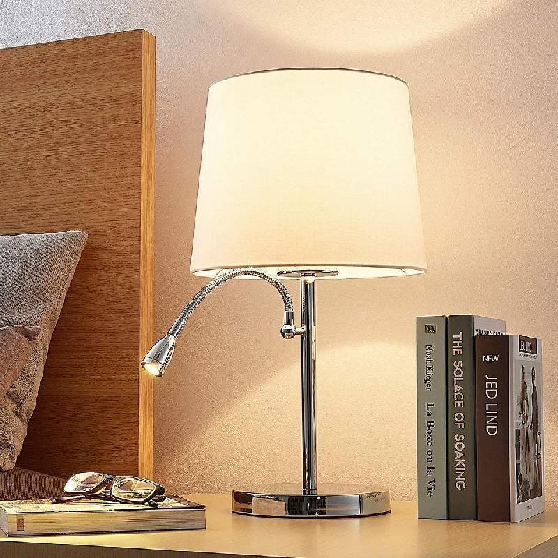 Poser Lampe Noir Textile De Les Chromée En Andor Comparer À Prix IYybf6gv7