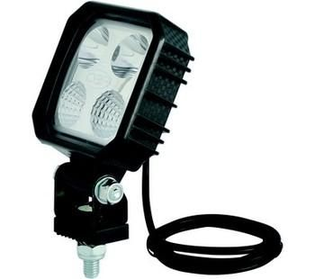 PHARES LED CORPS CARBONE 4 LED - 8W -1000 LM