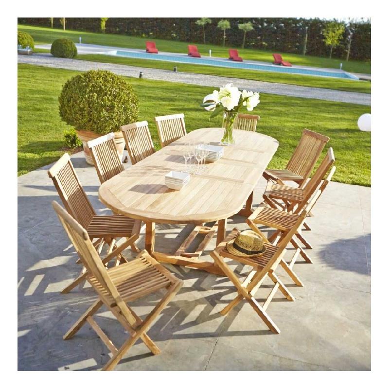 Salon de jardin bois dessus bois dessous - Achat / Vente de salon de ...