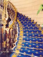 tapis de passage pour escalier et couloir fleur de lys. Black Bedroom Furniture Sets. Home Design Ideas