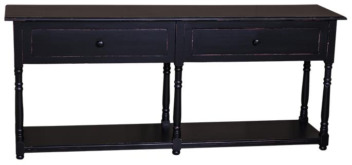 TABLE CONSOLE EN BOIS MASSIF L 180 CM ''MUNICH''