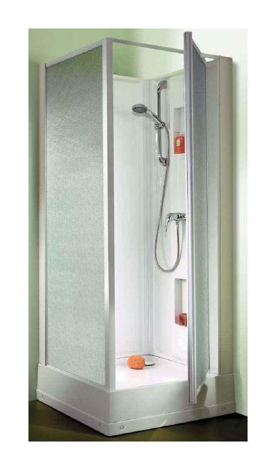 cabine douche leda izibox confort carr e en angle 70x70 cm comparer les prix de cabine douche. Black Bedroom Furniture Sets. Home Design Ideas