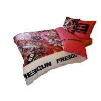 Parure de couette vision housse de couette new york rouge - Housse de couette freegun ...