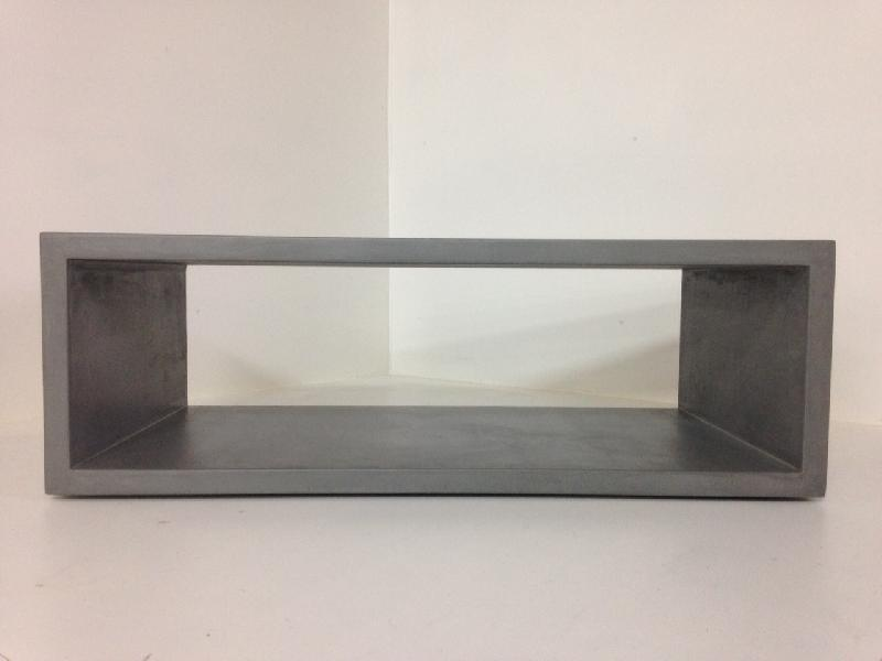 TABLE BASSE BETON CIRE DOUBLE OSSATURE