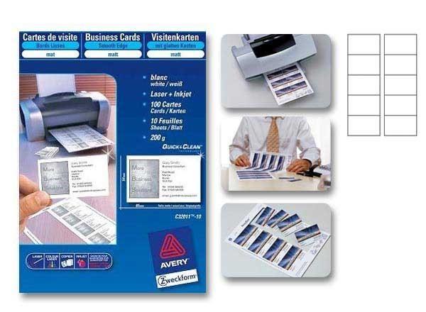 cartes de visite avery achat vente de cartes de visite avery comparez les prix sur. Black Bedroom Furniture Sets. Home Design Ideas