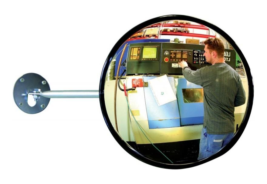 Transport Miroir 80/x 60/cm Miroir bomb/é Industrie avec bandes r/éfl/échissantes Noir S/écurit/é Miroir Convex taffic Mirror Miroir dobservation