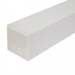 Poteau blanc 9x9x100 cm