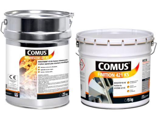Système de peintures intumescentes 421 ks - comus - monocomposantes