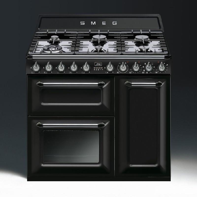 Smeg - cuisiniere gaz centre de cuisson 90cm victoria tr93bl (tr ...