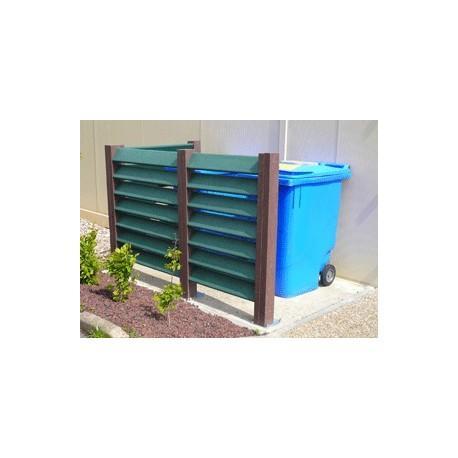 Cache conteneur poubelle en plastique recyclé laudun