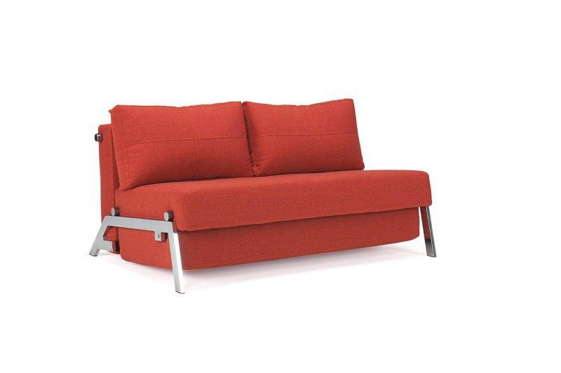 Innovation Living Canape Lit Design Sofabed Cubed Rouge Orange