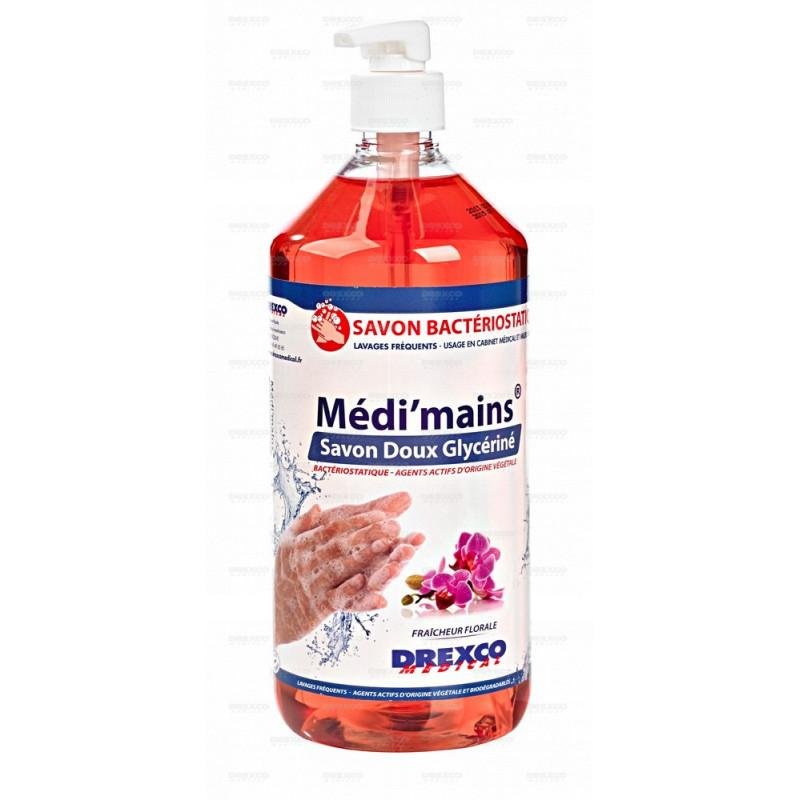 Lotion lavante medi'mains floral 1 litre - lot de 3 -