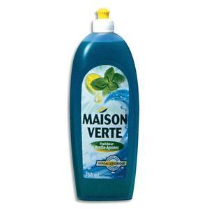Maison verte liquide vaisselle menthe agrumes 750ml 65500001 - Maison verte produits d entretien ...