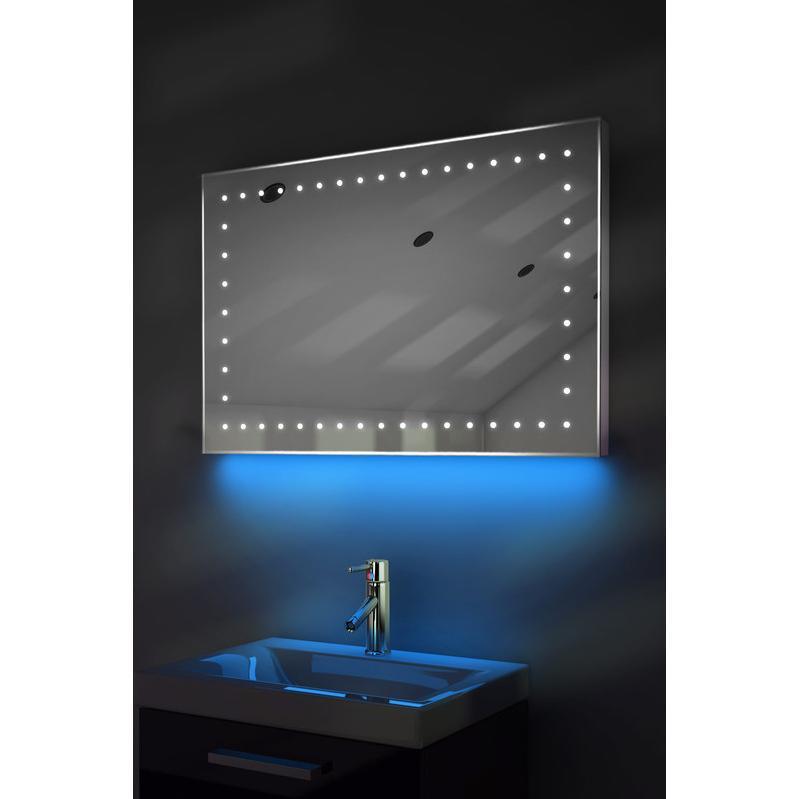 miroir de toilette et rasage led lumi re d 39 ambiance anti bu e capteur k165b couleur led. Black Bedroom Furniture Sets. Home Design Ideas