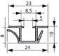 Raidisseur pour joint porte isotherme de chambre froide n 5831 - Joint porte chambre froide ...