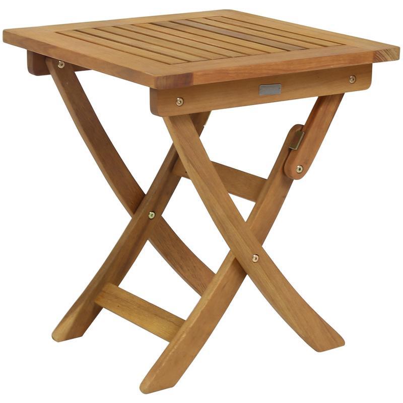 TABLE DE JARDIN OVALE PLIABLE - BOIS - CHARLES BENTLEY