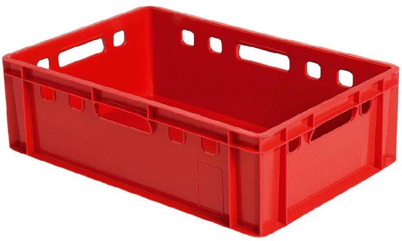 bac plastique gerbable plastique plein e2 rouge 600x400x200. Black Bedroom Furniture Sets. Home Design Ideas