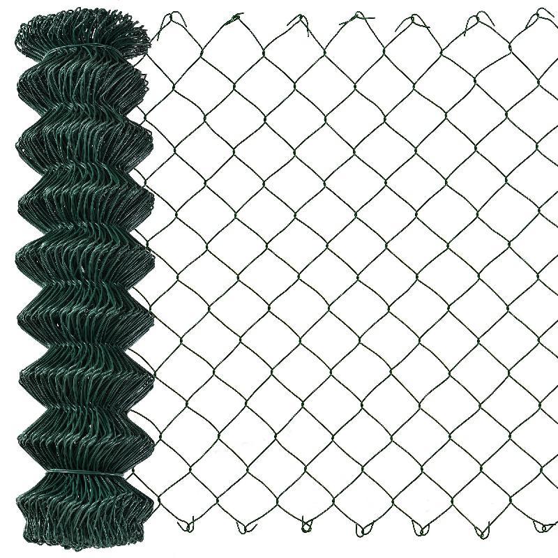 Clôture grillage étamé et enduit par pvc fil de fer 15 m x 1 m vert 03_0001490