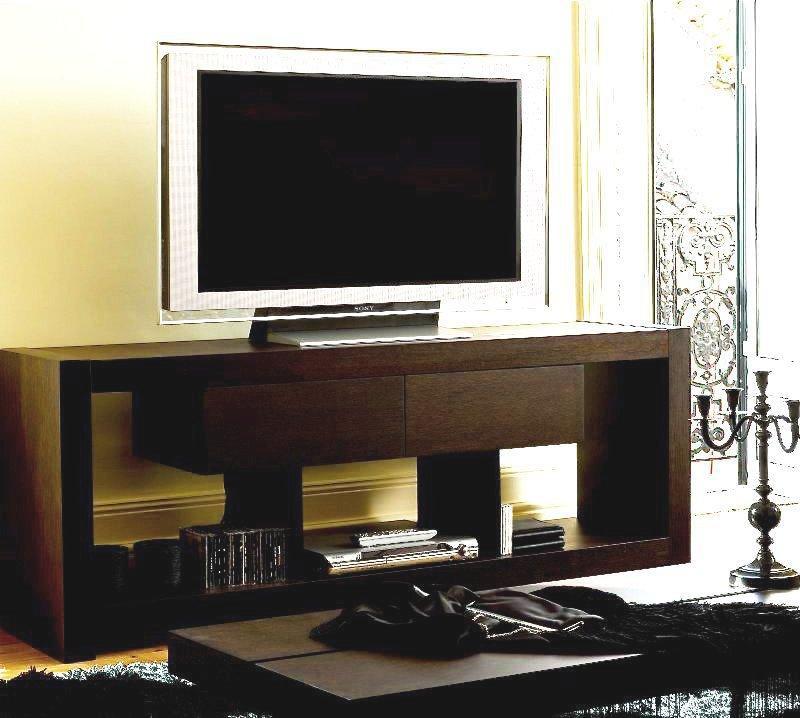 Temahome nara meuble tv bois wenge tiroirs design - Meuble tv design wenge ...