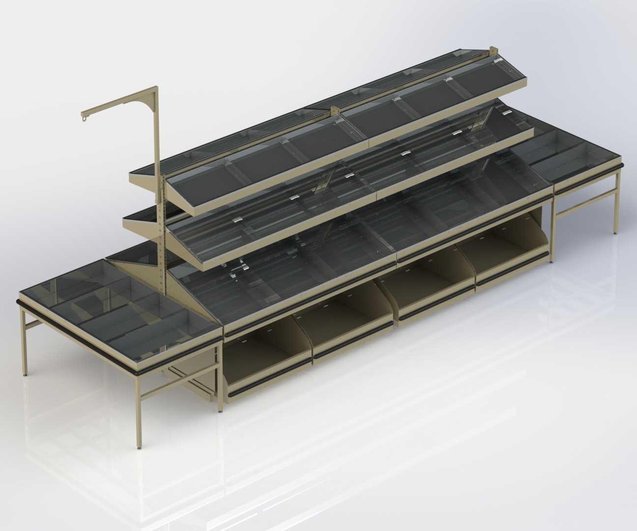 rayonnages et presentoirs pour fruits legumes tous les. Black Bedroom Furniture Sets. Home Design Ideas