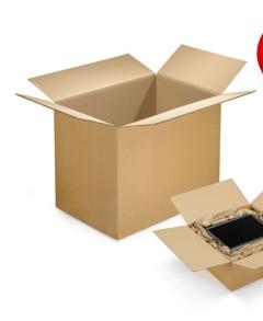 caisse carton brune double cannelure rajabox longueur 50 a 65 cm. Black Bedroom Furniture Sets. Home Design Ideas