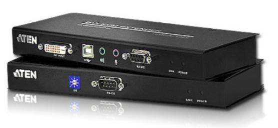 CE600 - DÉPORT KVM DVI CÂBLES CAT.5E USB / MINI-JACK / RS-232