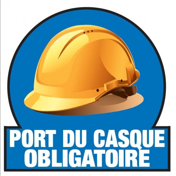 Marquage port du casque obligatoire sol - Port du casque obligatoire ...