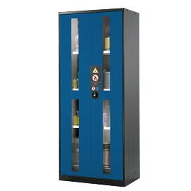 Armoire de sécurité produits dangereux portes vitrées - 821 litres