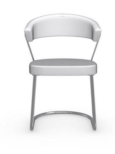 awesome calligaris chaise new york design italienne en tissu enduit polyurthane simili faon cuir. Black Bedroom Furniture Sets. Home Design Ideas