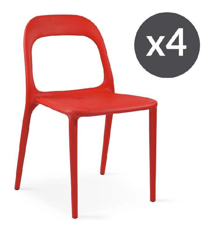 Chaise et fauteuil d 39 ext rieur oviala achat vente de - Chaise de jardin plastique blanc ...